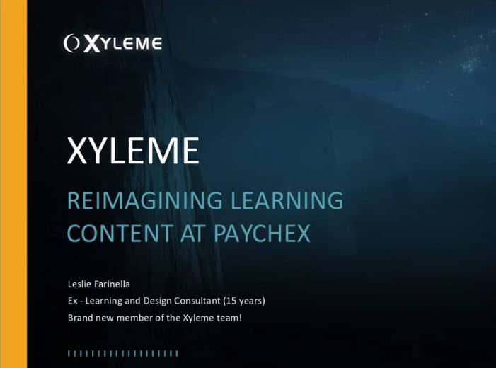 Reimagining Learning Content at Paychex