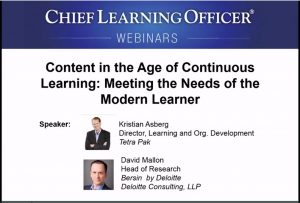 Content in the Age of Continuous Learning