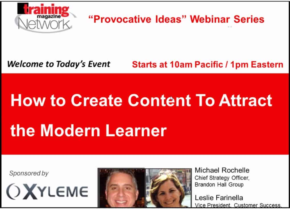 How to Create Content to Attract the Modern Learner