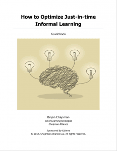 How to optimize just-in-time-informal learning