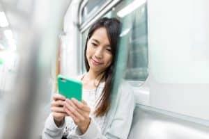 phone on train