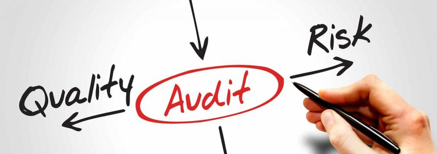 Several possible outcomes of performing an AUDIT, business concept